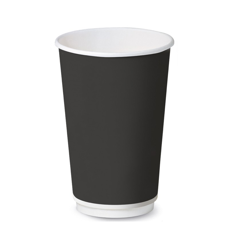 Bicchiere Black Double Wall 12oz
