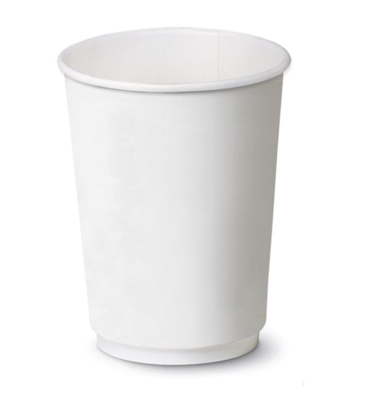 Bicchiere Bianco Double Wall 12oz