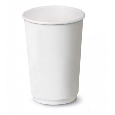 Bicchiere Bianco Double Wall 16oz
