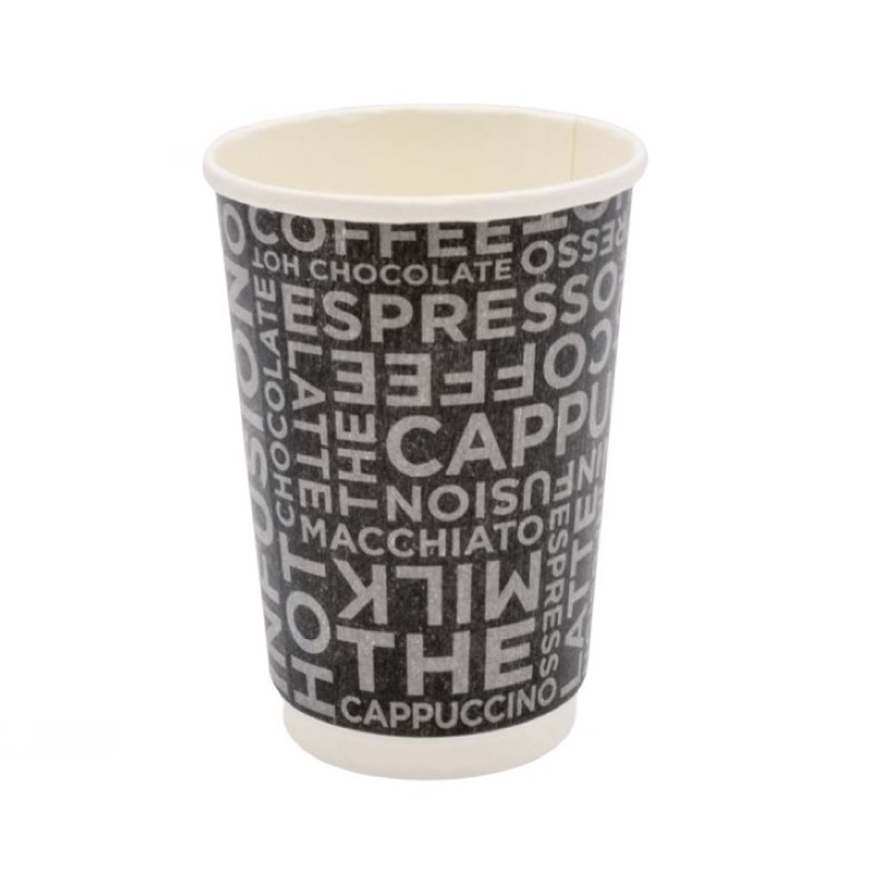 Bicchiere Coffee Black Double Wall 12oz