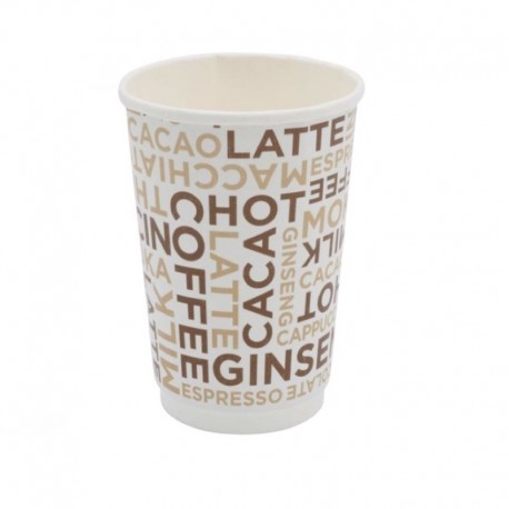 Bicchiere Coffee White Double Wall 12oz