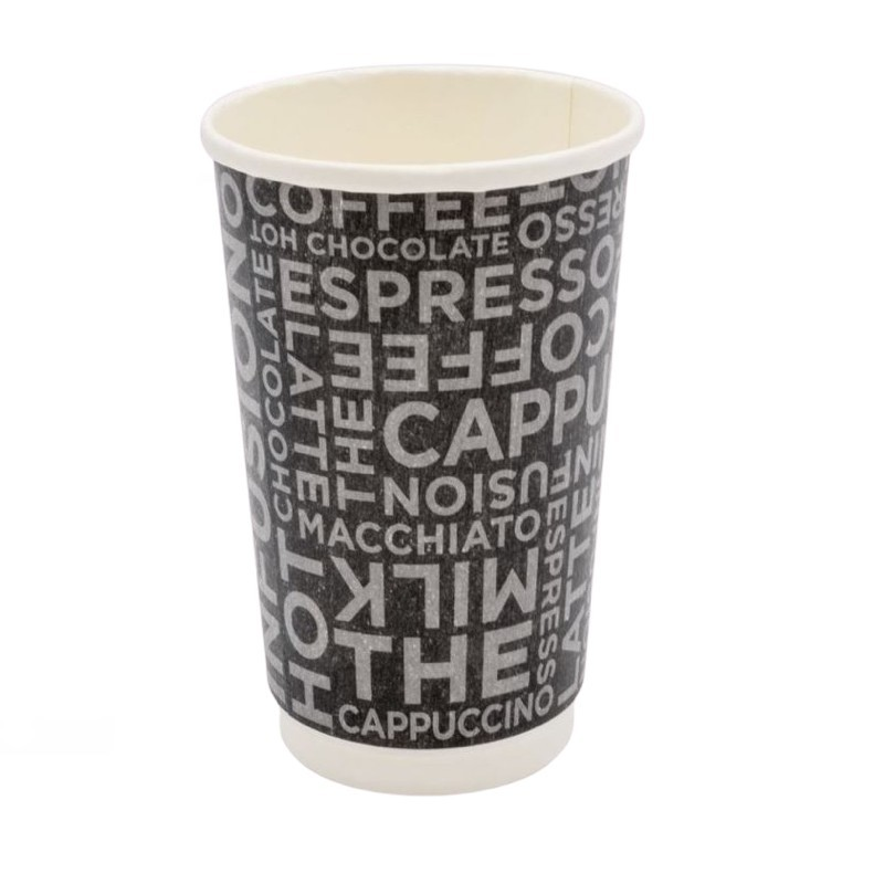 Bicchiere Coffee Black Double Wall 16oz
