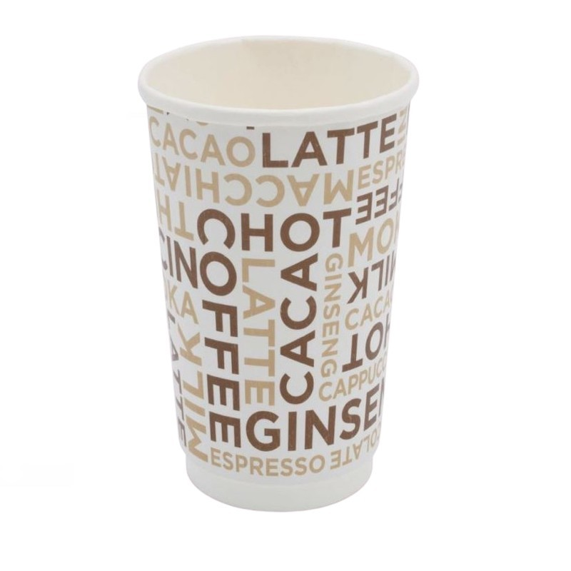Bicchiere Coffee White Double Wall 16oz